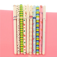 10pcs/lot New Cute Cartoon Colorful Korean Small Fresh Style Stationery Watercolor Gel Pens Set For Student Supplies