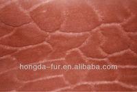 cutting design faux fur