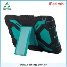 Dual Colors Holder 3In1 Plastic Case for iPad Mini, For iPad Mini High Quality Anti-Shock PC Hard Cases