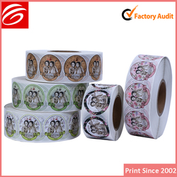 transparent die cut round adhesive labels cosmetic