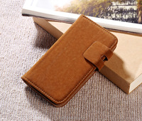 Wholesale Competitive price squirrel grain soft pu leather leather phone case with wallet design for motorola moto G2