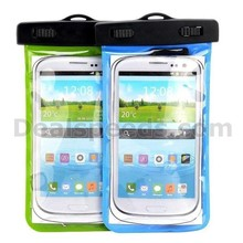 Green Waterproof Dry Bag Pack Case Armband Pouch for Samsung Galaxy Note 3 N9000 N9002 N9005 N9006 with an Earphone Jack