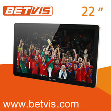 22 inch wall advertising display with internet for bus