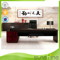 2015 Sunshine Antique Design Boss Office Used Modern Wooden Luxury Table Furniture Wholesale From China