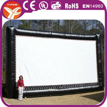 Inflatable screen for outdoor event
