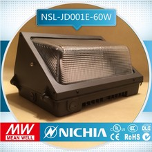 free sample hot selling 5years warranty 60w dlc led wall pack, led tunnel light 50w,40w led wall pack light