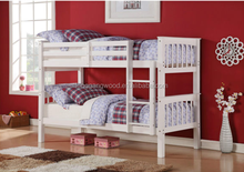 white color high quality wood bunk bed