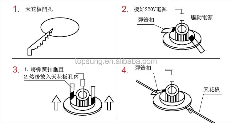 30w ul dimmable 3 years warranty cob led downlight shenzhen