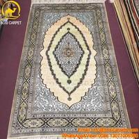 3x5ft Modern Kashmir Silk Oriental Handmade Qom Persian Silk Carpet silk carpet runner