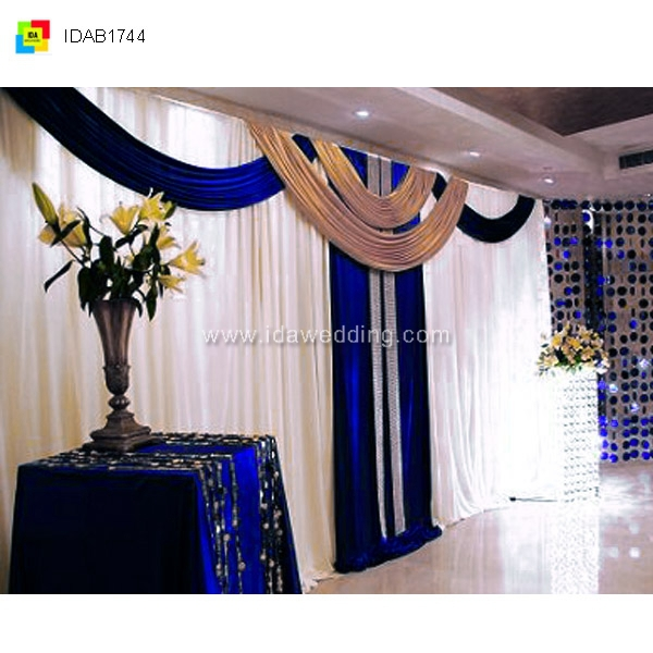 Ida church auditorium decoration curtain backdrop for Backdrop decoration for church