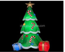 INFLATABLE CHRISTMAS 6.5 FT TREE with PRESENTS CANDY CANES YARD DECOR