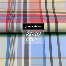James ready bulk big colorful check regular soft 15/16 new developed cotton plain fabric