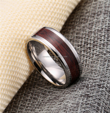 RT139 wholesale popular latest fashion jewelry stainless steel wood inlay hawaii style ring for man from china manufacturer