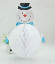 Christmas Hanging Decorations Tissue Paper Hoecycomb Snowman