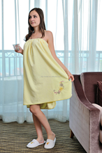 women beautiful cotton terry bathrobe soft women bathrobe bath wrap