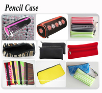 Cheap wholesale neoprene pencil pouches/bags/case for school girls with zipper