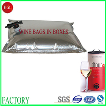 Become popular liquid packaging/bag in box 5l wine