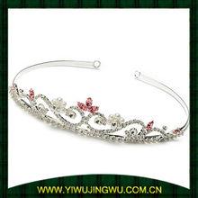 beauty flower rhinestone tiaras with pearl for girl (JW-G12537)