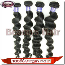 Beamyshair Natural Hair Crafts 2014 Excellent Fashion Large Stock loose wave brazilian virgin hair