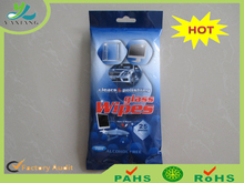 Auto wet wipes for cleaning dashboard, leather seat, glass, car window polishing