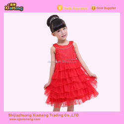 Lovely tulle layered lace flower girl dress for wedding