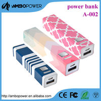 Ultra-Compact Portable Lipstick-Sized External Battery Backup Charger Power Bank Charger