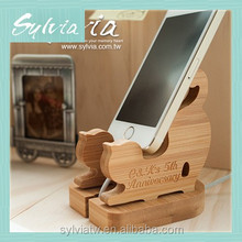 2015 Taiwan manufacture new design custom creative wooden mobile phone wall holder
