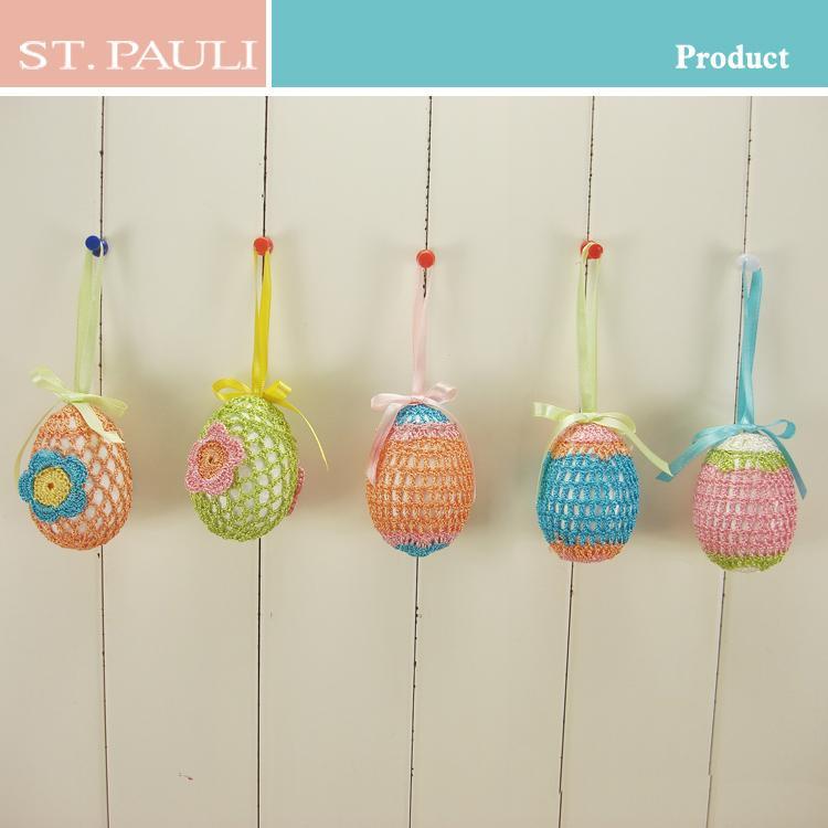 1 Inch Crochet Flower Pattern : 3 Inch Hanging Crochet Flower Pattern Decorative Easter ...