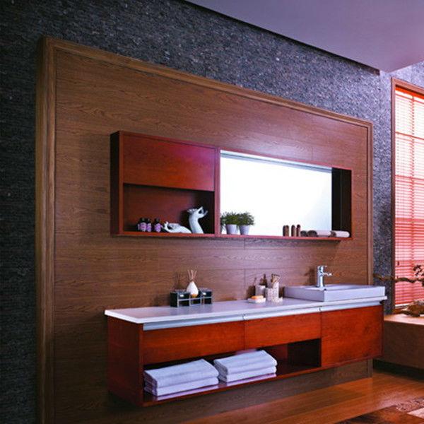 Gabinete Para Baño Madera:Laminado de madera gabinete de cuarto de baño( fabril)-Cuarto de