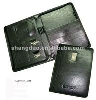 Genuine Leather Portfolio With Pen Holder