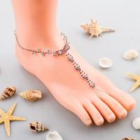 2015 Longway New Season Luxury Rhinestone indian foot jewelry
