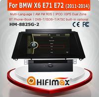 HIFIMAX 8'' WIN CE 6.0 Car DVD GPS For BMW X6 E71 E72 2011-2014 Car DVD GPS Navigation System