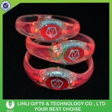 2015 Promotional Colorful LED Flashing OEM Wristband With LOGO For Gifts, LED Light Up OEM Wristband For Brand Adverting