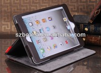 High quality Book leather case for ipad mini with holder