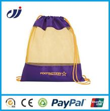 2014 Cheap Custom Cloth Drawstring BagS No Minimum For Soccer Sport Or Promotional Gifts
