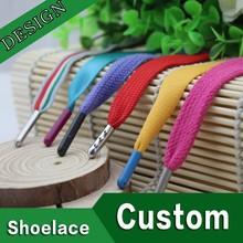 3 m punta de metal herretes puntas fabricación plana de color personalizado venta al por mayor cordones de los zapatos