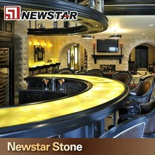 Polished lighted honey onyx bar top price