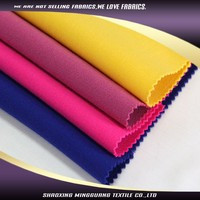 Shaoxing mingguang textils plain weave diversity Ladies office suit fabric color combinations