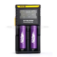 Nitecore d2 inteligent charger smart digital multi-charger li-ion 18650 2 slot charger