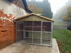 2015 Outdoor Hot Sales single dog kennel with mesh run sections