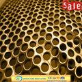 bronze melhores preços folha perfurada de malha de metal cerca