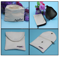 wholesale newest style small zipper pouch,cotton canvas drawstring zipper pouch wallets with better price and quality