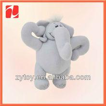 popular de dibujos animados gris suave y esponjosa elefante de juguete