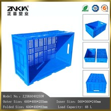 stackable plastic material collapsible mesh bottom crates for fruits and vegetables