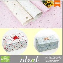 50*70cm high quality floral romantic types of gift wrapping paper