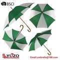 Publicidad barata eje de madera auto paraguas de impresión personalizada