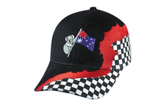 Embroidered team falg baseball cap racing baseball cap soonest delivery