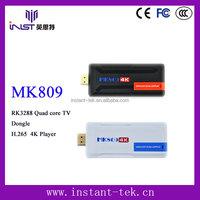 INST RK3288 Quad core usb tv stick satellite receiver H.265 4K Player wholesale android smart tv set top box