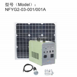 Portable solar power kit for home, household