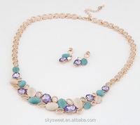 New star ocean light cat eye stone necklace,girl festival accessory set wholesale in alibaba(SWTPR1361)